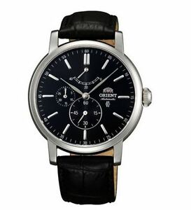 Orient Vintage FEZ09003B0 Black Dial Black Leather Band Men's Watch