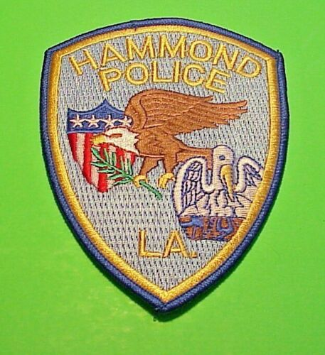"HAMMOND  LOUISIANA  LA  4 3/4""  POLICE PATCH  FREE SHIPPING!!!"