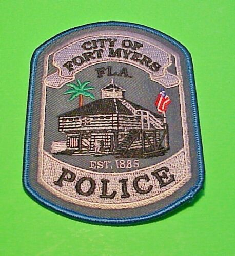 "FORT MYERS  FLORIDA  FL  EST. 1885  4 1/2""  POLICE PATCH   FREE SHIPPING!!!"