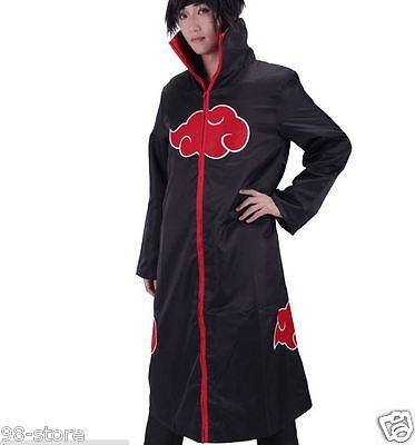 Halloween Brand new Naruto Itachi Uchiha Deluxe Cosplay Costume Black Size SMALL
