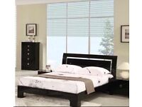 Black high gloss bedroom set