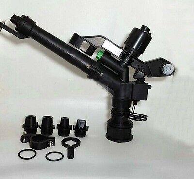 "1- 1/2"" Plastic Impact Sprinkler Gun Sprinkler Head With 5 Spray Nozzles"