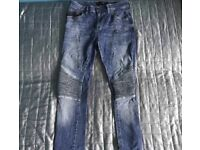 Zara biker jeans