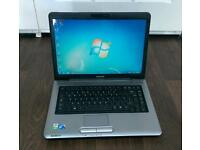 Toshiba laptop. webcam, Microsoft office, windows 7