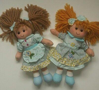 Job Lot of 12 25cm Vanity Fair Rag Dolls (2 asstd styles)
