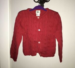 Oshkosh Baby Girls Red Cable Knit Cardigan (18-24 months)