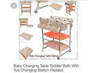 CHANGING TABLE AND BABY BATH