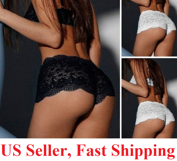 US Womens Lace Panties Shorts Lingerie sexy hot French Knickers Underwear Clothing, Shoes & Accessories