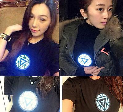 IRON MAN Tony Stark Light-Up Shining LED Black T-Shirt Cool Tee In Stock](Light Up Tee Shirt)