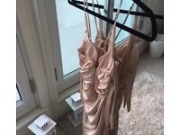 Pink Satin Oh Polly Dress