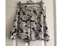 summery floral shorts
