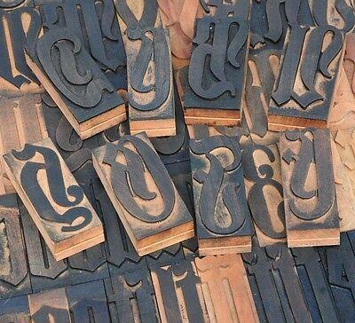 164pcs - 3.54 Blackletter Letterpress Wood Printing Blocks Wooden Type Print