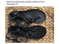 BNWT Black jelly sandals size 6