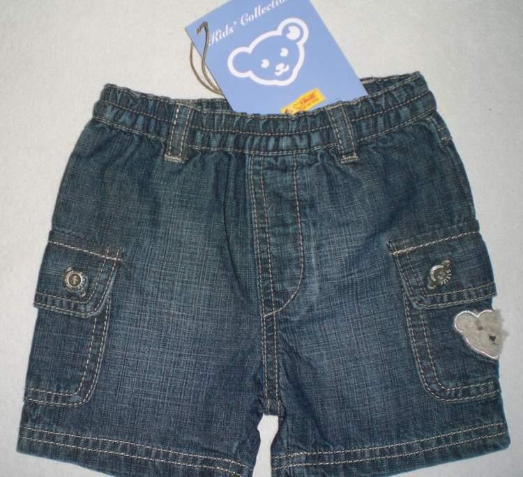 Steiff Jeans kurze- Hose Bermuda Shorts  Gr.62 NEU