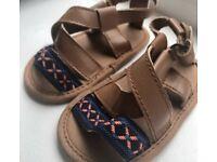 Brown & Aztec Baby Girl's Sandals