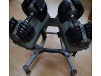 Bowflex Selectech 5-52lb Dumbbells plus Stand