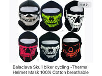 Balaclavas mens skull - business stock clearance £2 each biker balaclavas