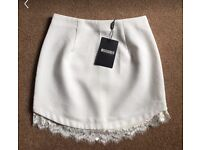 Missguided lace mini skirt size 10