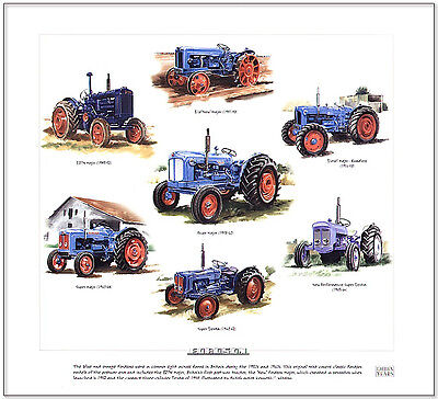 FORDSON - FINE ART PRINT - New Major New Performance Super Dexta Tractor images