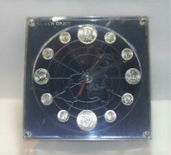 Marion Kay Last United States Silver Coinage Silver Orbit Numismatic Clock No.14