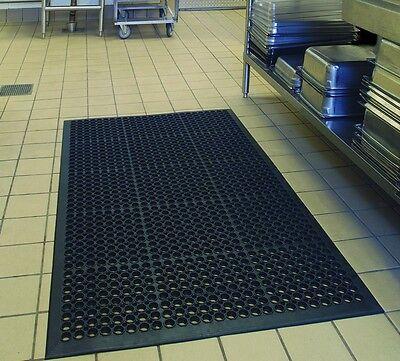 """Black Indoor Commercial Industrial Heavy-Duty Anti-Fatigue Floor Mat 36"""" x 60"""""""