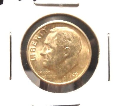 UNCIRCULATED 1949S FDR DIME !!!!!