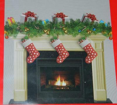 Scene Setter Xmas Hearth Fireplace Stockings Mantel Wall Decoration 35