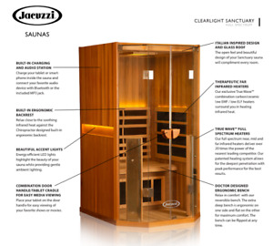 Jacuzzi Infrared Saunas - FREE DELIVERY & INSTALLATION