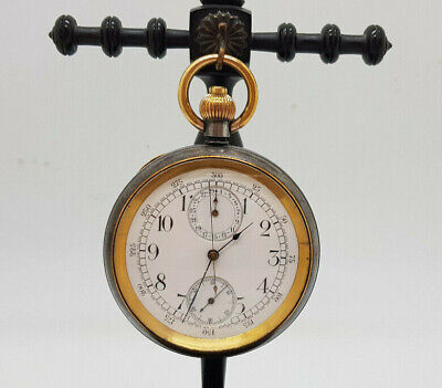 ANTIQUE RARE OMEGA CHRONOGRAPH POCKET WATCH 53 MM.
