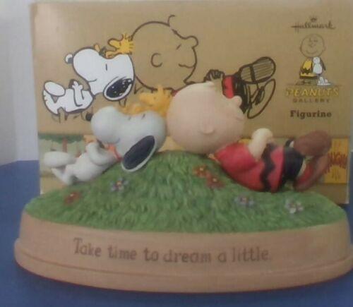 "Peanuts Snoopy Charlie Brown ""Take Time To Dream a Little ""Hallmark Figurine MIB"