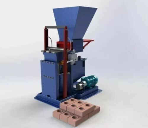 Ecological clay interlocking hydraulic Brick Making Machine PLANS build your own