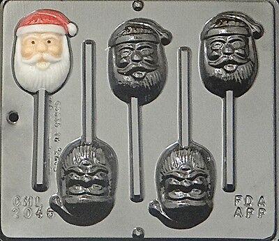 Santa Claus Face Lollipop Chocolate Candy Mold Christmas 2046 NEW