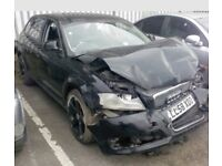 ****SPARES OR REPAIR***** 58REG AUDI A3 TDI 138BHP FRONT END DAMAGED HPI CLEAR