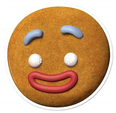 Gingy The Gingerbread Man from Shrek Single 2D Card Face Mask - Party Dress Up - Gingerbread Man From Shrek