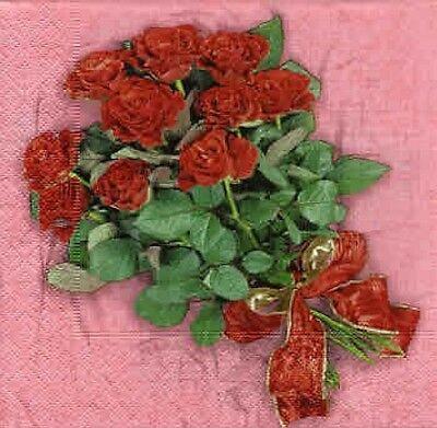 Wunderschöne Servietten: ROSENSTRAUSS (810) 810 Rosen
