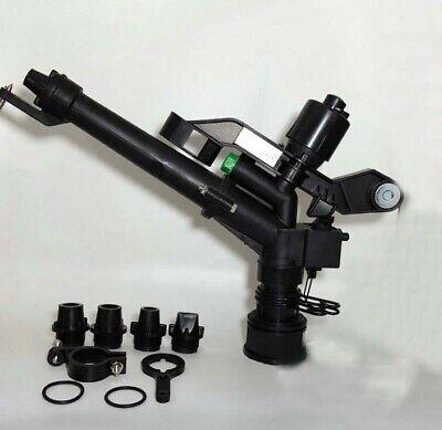 Plastic Impact Sprinkler Gun Sprinkler Head With 5 Spray Nozzles 1- 12