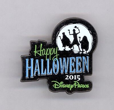 Disney Happy Halloween Silhouette Hitchhiking Ghosts Haunted Mansion Pin