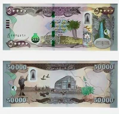 UNC 1/2 MILLION 500000 10 x 50000 IRAQI DINAR Keyhole BANKNOTES 3-5 Day Delivery