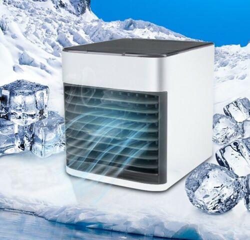 Mini Air Conditioner Portable Air Cooler 7 Colors LED USB Personal Cooler Fan