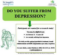 Depression Study – Compensation and Optional Treatment!