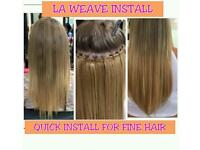 LA WEAVE, SEW IN(BRAID) WEAVE, MICRO LOOPS & BONDS TIPS WEAVE, DOUBLE DRAWN REMY-FULL HEAD FROM £140