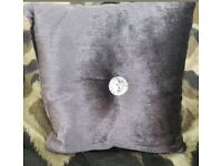 x3 Stunning Purple/Silver Cushions In Great Condition