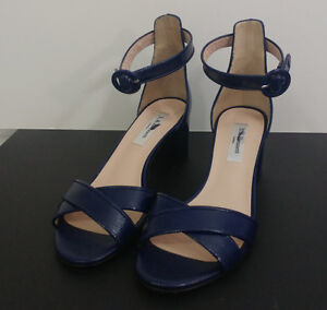 L.K. Bennett patent leather Sandals/shoes Aniki Blue Size 5.5/36