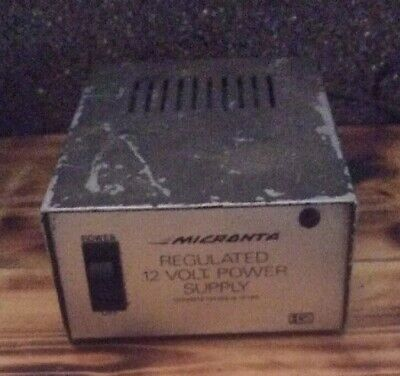 Micronta Regulated 12 Volt Power Supply No. 22-124a Converts 120 Vac To 12 Vdc