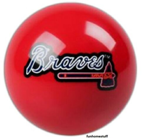 ATLANTA BRAVES RED MLB TEAM BILLIARD GAME POOL TABLE REPLACEMENT CUE 8 BALL