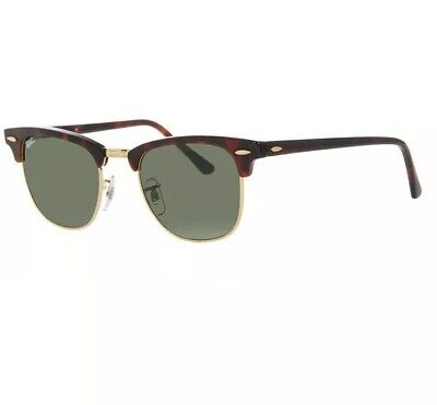 NEW Ray-Ban RB3016 Clubmaster Classic W0366 Tortoise Green G-15 49mm (Ray Ban Clubmaster 49mm Sunglasses)