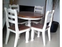 Solid table & chairs