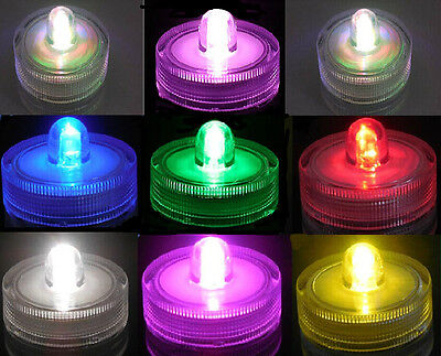 2/5/12/24/36Led Submersible Waterproof Wedding Floral Decoration PartyTea Light