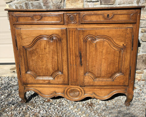 Country French walnut sideboard or server c 1790 Probably from Auvergne region