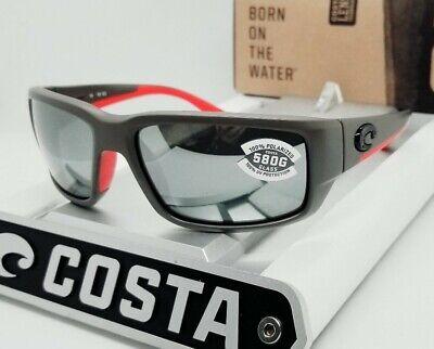580G COSTA DEL MAR race gray/silver mirror FANTAIL POLARIZED sunglasses! (Costa Fantails)